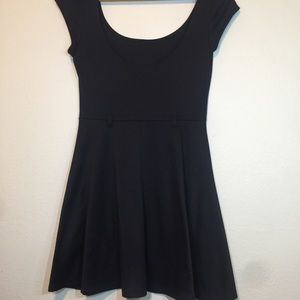 Papaya black skater dress